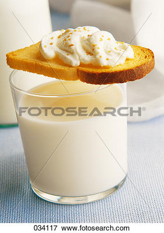 Picture of milk and cheese spread on bread 034117.
