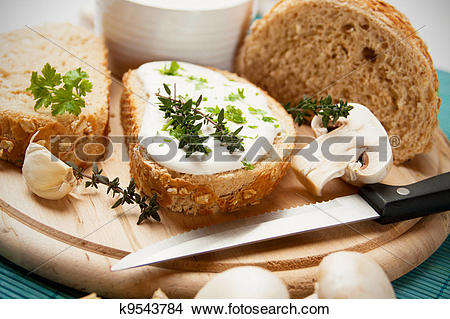 Stock Photo of Cream and cheese spread k9543784.