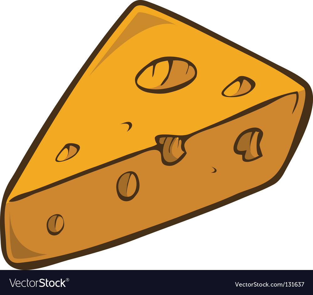 Swiss cheese wedge.