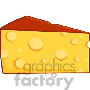 Royalty Free RF Clipart Illustration Cartoon Wedge Of Cheese.