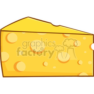 Royalty Free RF Clipart Illustration Cartoon Wedge Of Yellow Cheese  clipart. Royalty.