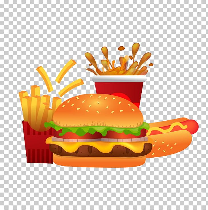 Cheeseburger French Fries Hot Dog Hamburger Bacon PNG.