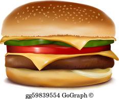 Cheeseburger Clip Art.