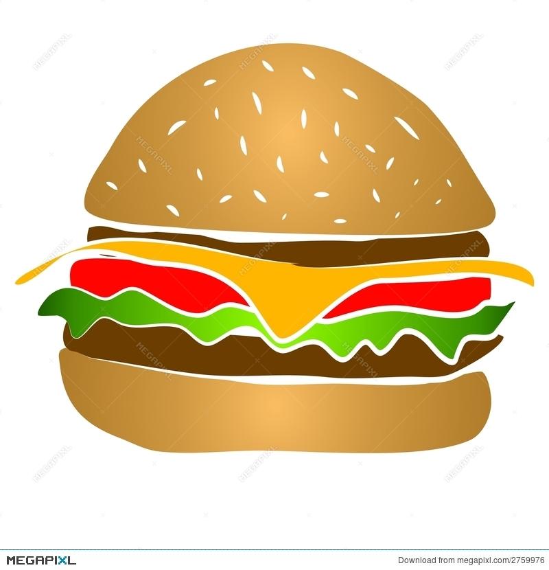 Cheeseburger Hamburger Clipart Illustration 2759976.