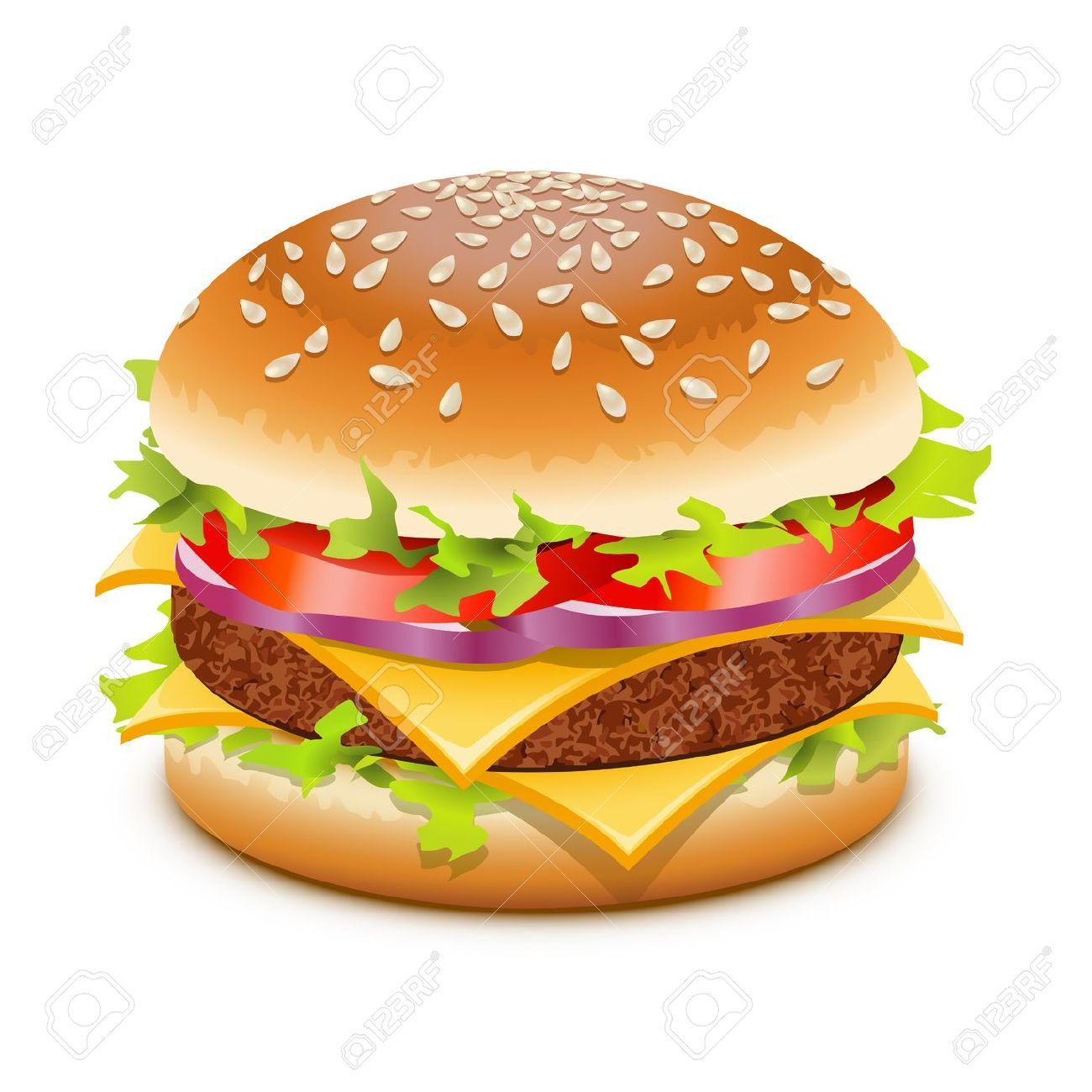 Bacon cheeseburger clipart.