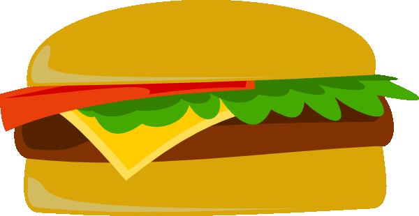 Vector Cheeseburger Clipart.