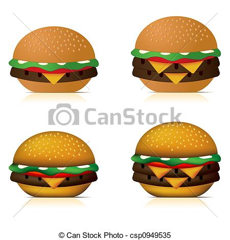 Stock Illustrations of Cheeseburgers.
