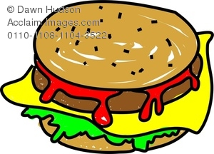 Clipart Image of a Whimsical Drawing of a Juicy, Mouth Watering.