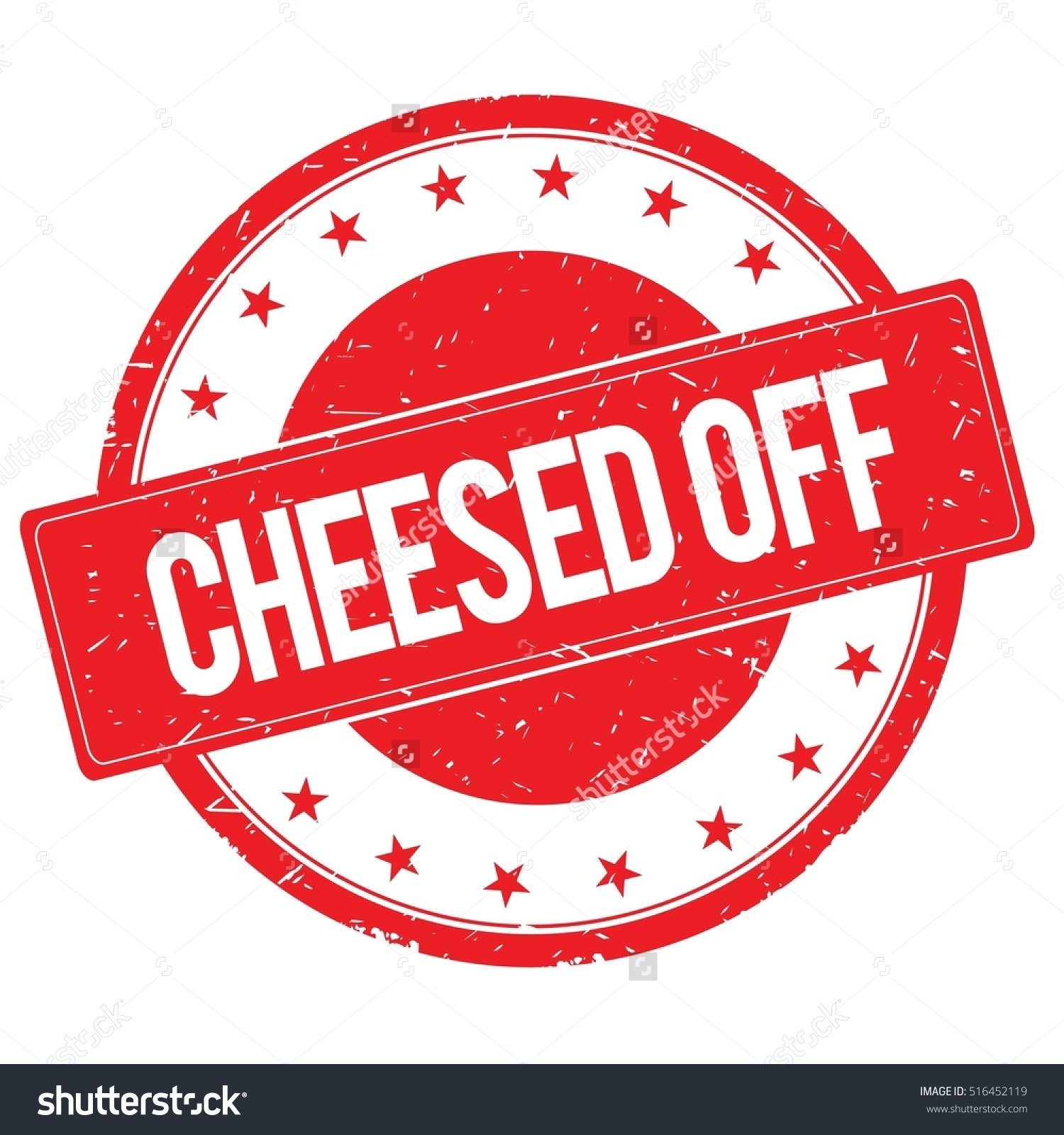 Cheesed Off Stamp Sign Text Word Stock Illustration 516452119.