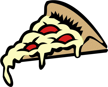 Cheesy pizza clipart.
