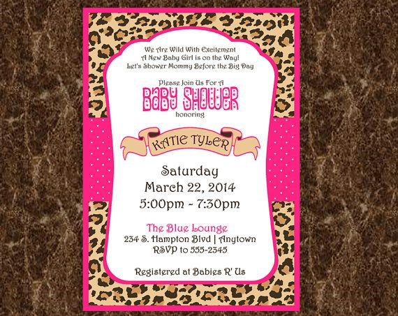 Cheetah baby shower clipart girl clipground 41 best ideas about baby shower invitations on pinterest cheetah print baby shower invitation animal filmwisefo