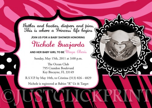 Print Baby Shower Invitations.