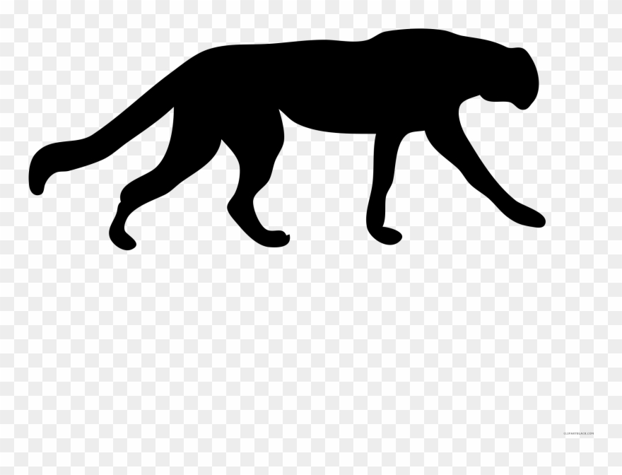 Vector Transparent Stock Cheetah Black And White Clipart.