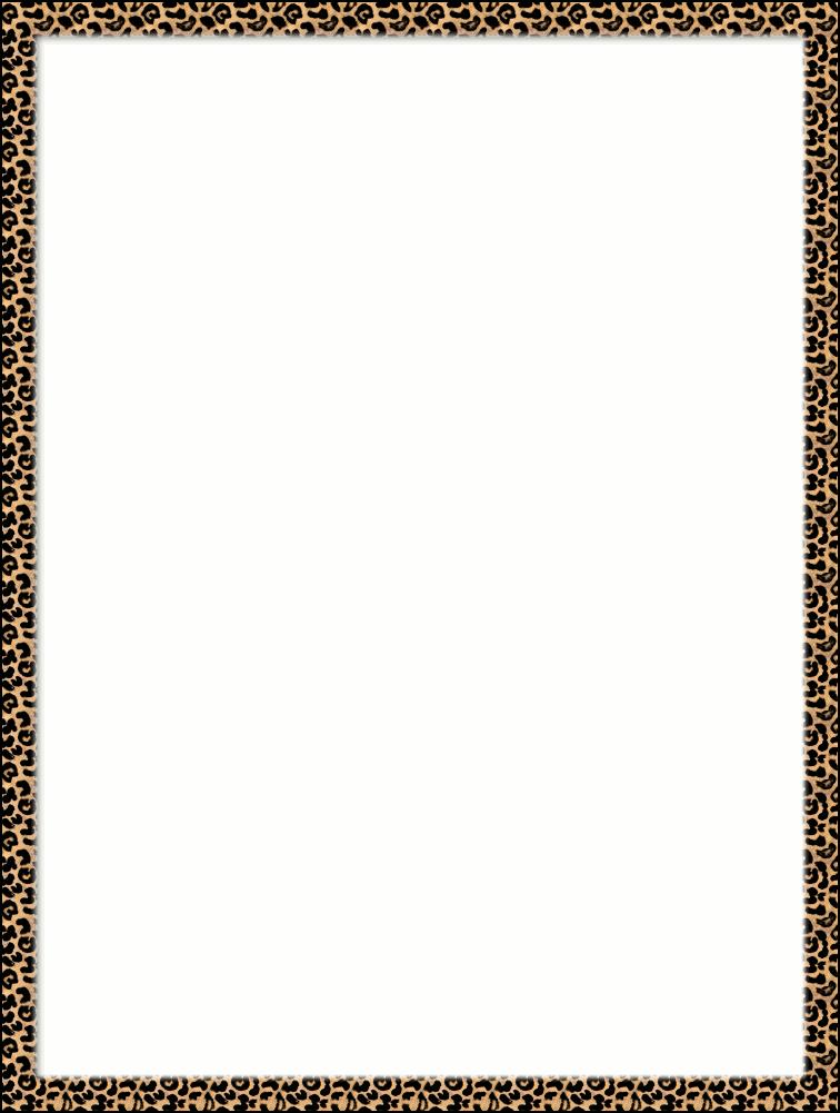 Cheetah Border Clipart.