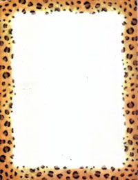 Cheetah animal print and black bottom border with black.
