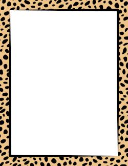 Cheetah Print Border.