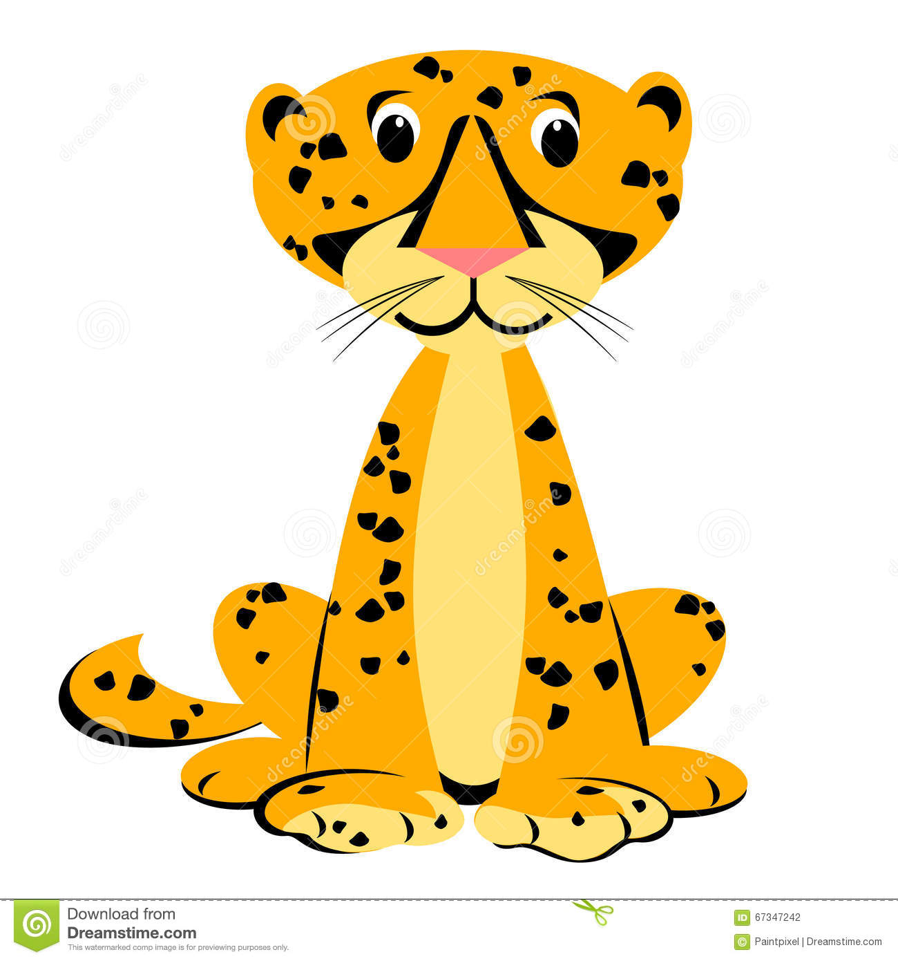 Cheetah Cartoon Clipart stock vector. Illustration of illustration.