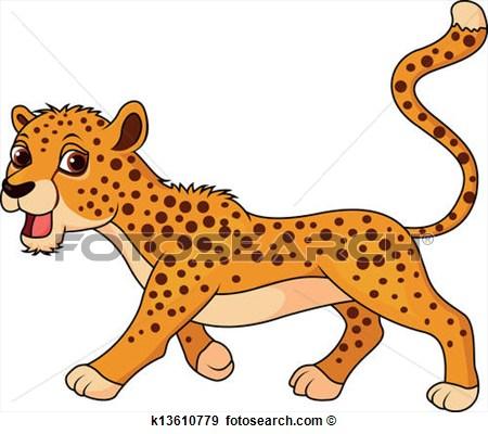 Cute Cheetah Clipart.