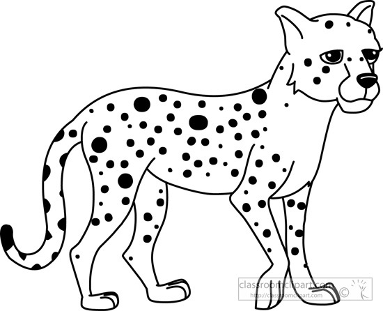 Cheetah clipart black and white, Cheetah black and white Transparent.
