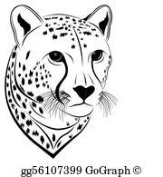 Cheetah Clip Art.