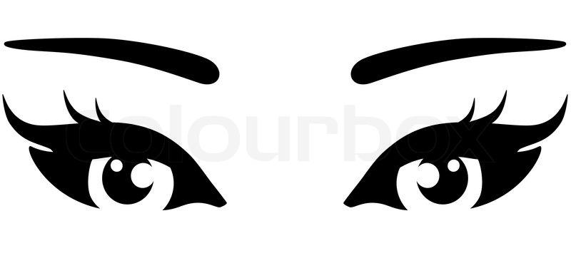 Woman Eyes Clip Art.