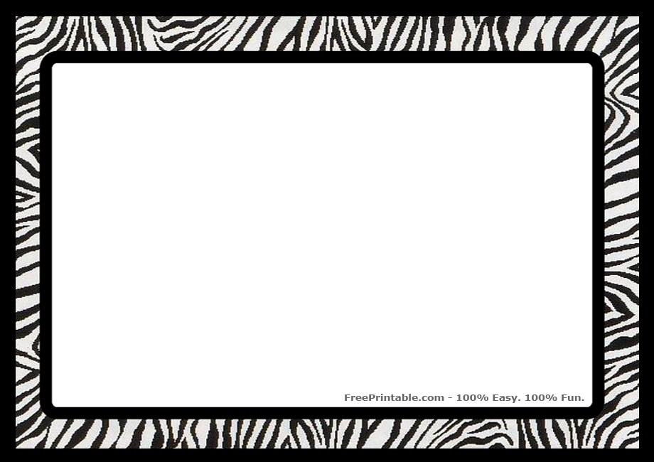 Cheetah print border clipart 2 » Clipart Portal.