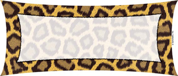 Rectangle With Animal Print Border.