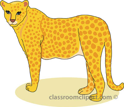 Free cheetah clipart clip art pictures graphics.