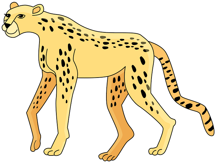 Cheetah clipart. Free download..