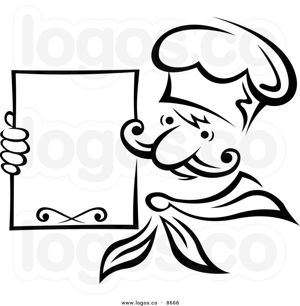 Images For > Chef Clipart Black And White.