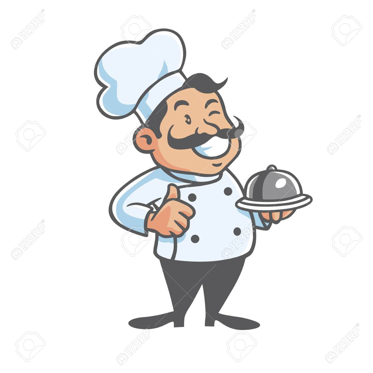 Happy Chef Clipart Vector Art.