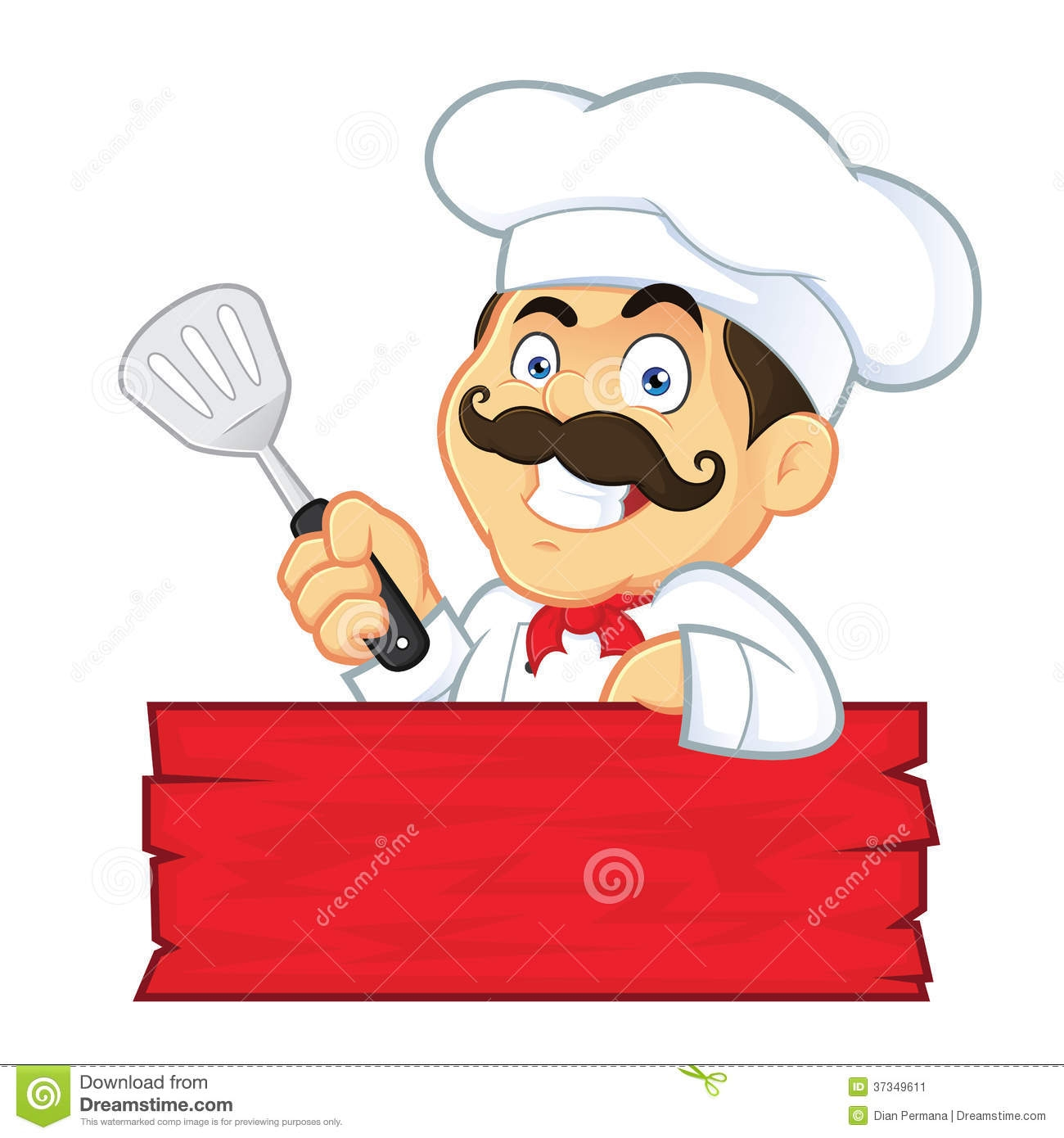 chef clipart cartoon #8