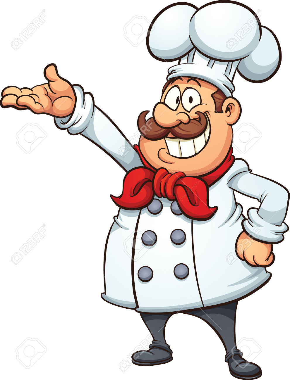 Cartoon chef clipart.