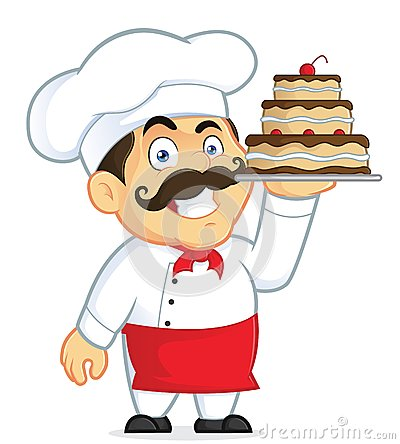 Pastry Chef Cartoon Vector Clipart Stock Vector.