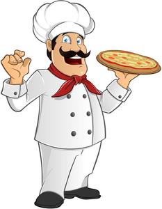 Pizza Chef Clipart Free.