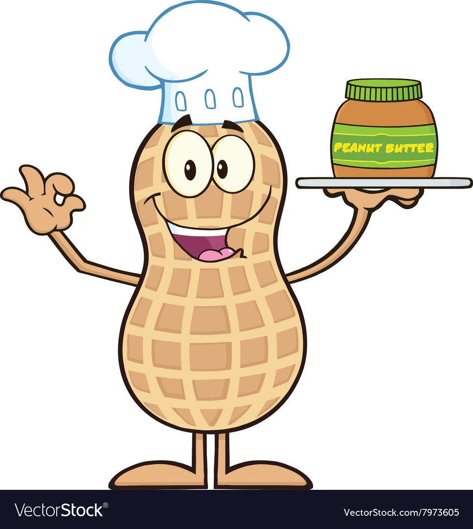 Royalty Free RF Clipart Chef Peanut Cartoon.