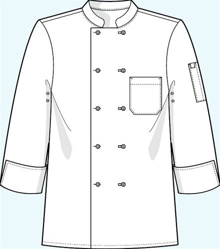 Chef jacket clipart.