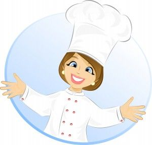 Free Cartoon Girl Chef.