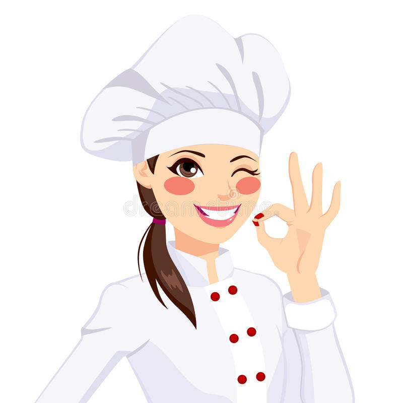 Chef Woman Stock Illustrations.