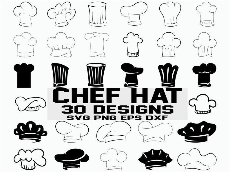 Chef Hat SVG/ chef svg/ chef hat clipart/ kitchen svg/ cook hat svg/  silhouette/ cricut/ cut file.
