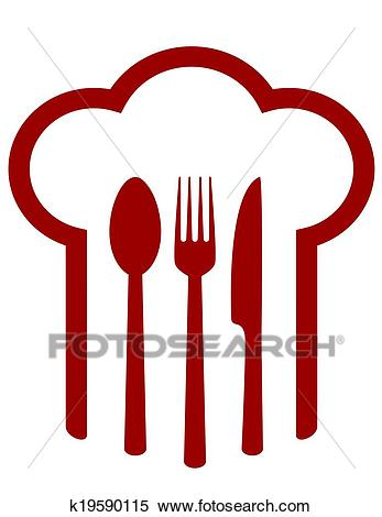 Sign with chef hat Clipart.