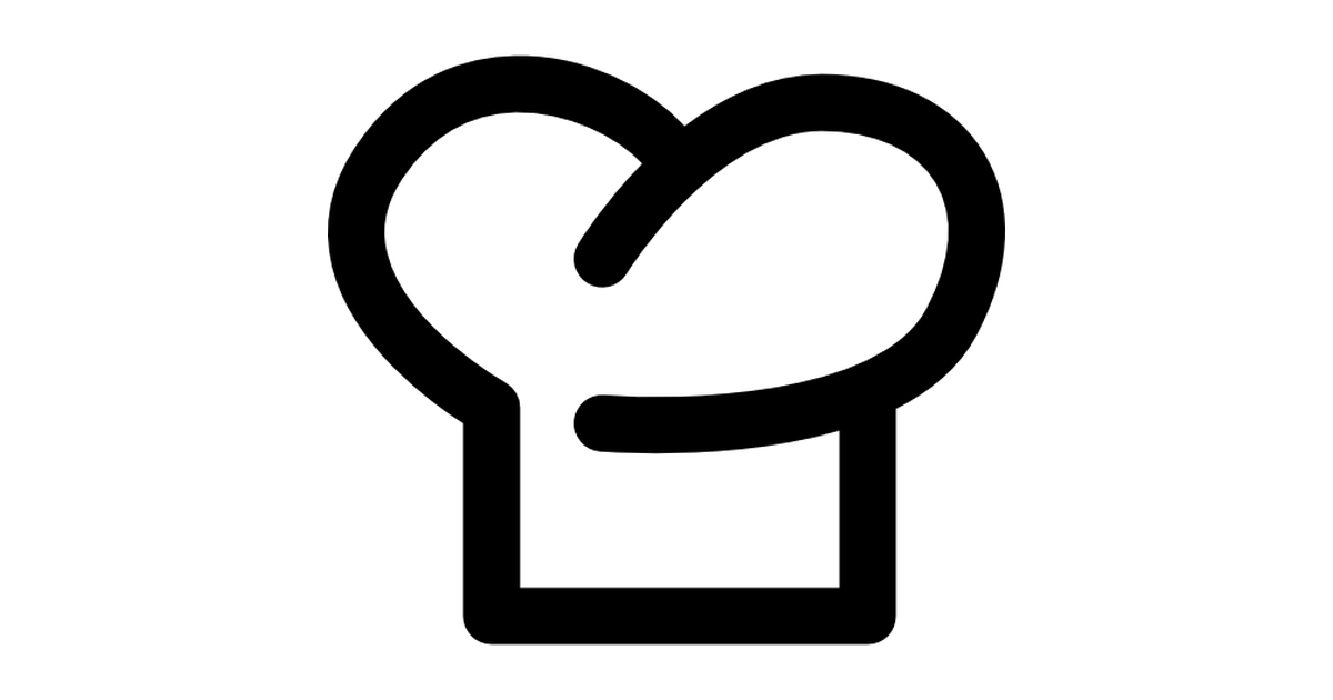 Chef hat outline symbol.