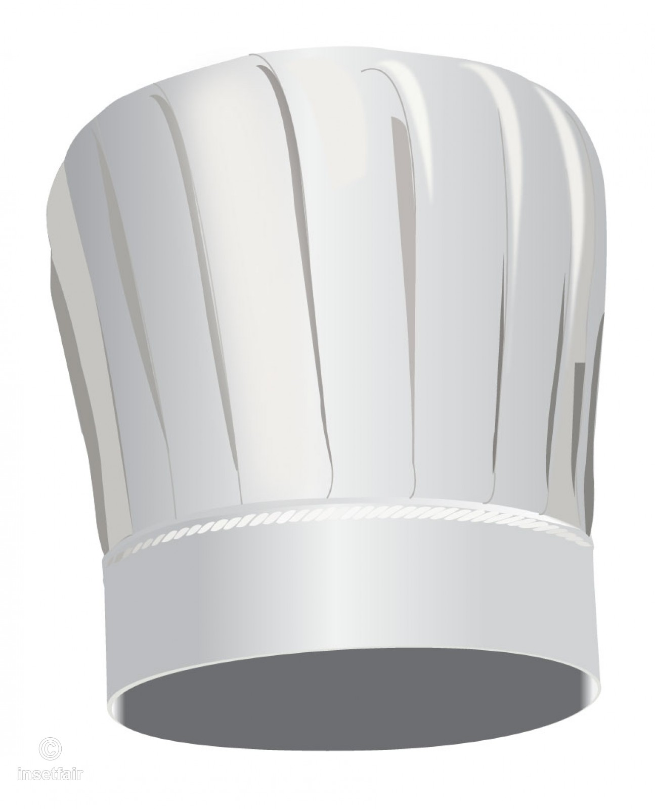 Tall chef hat vector graphics free png image.