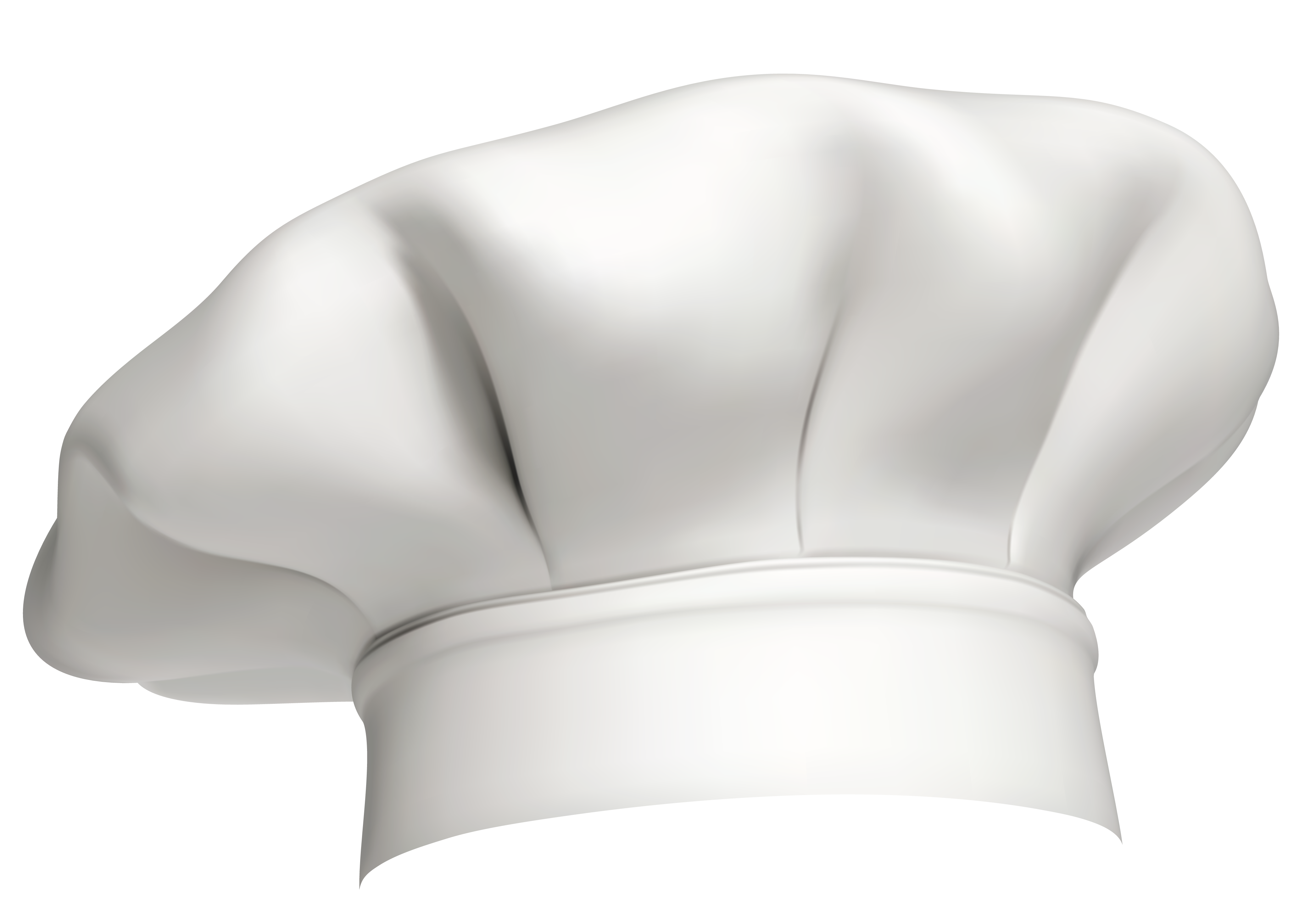White Chef Hat PNG Clipart.