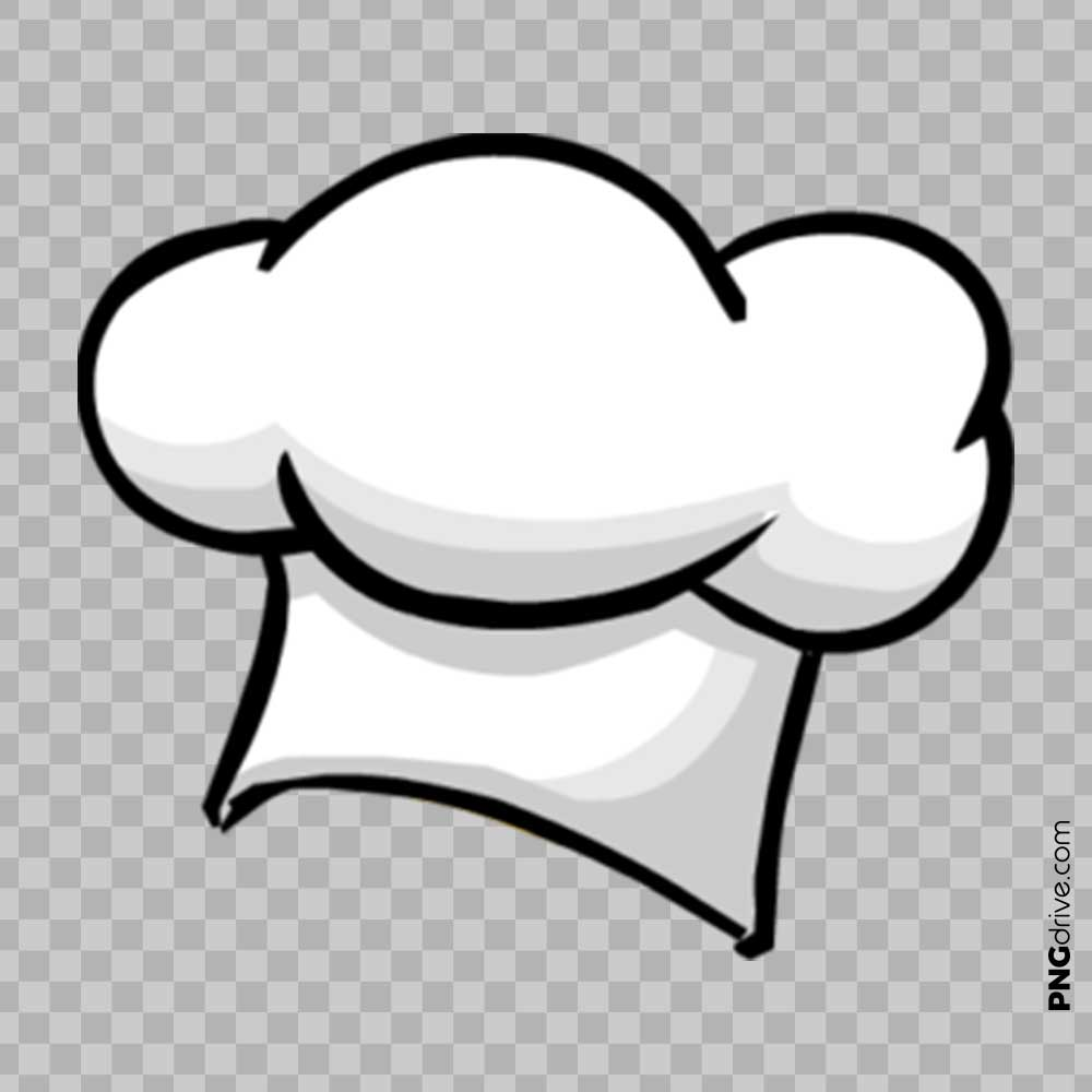 Clipart Chef Cap / Chef Hat Vector PNG Image.