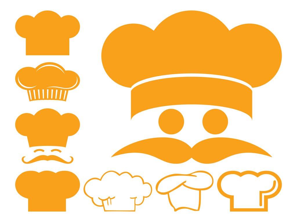Chef Hat Icons Vector Art & Graphics.