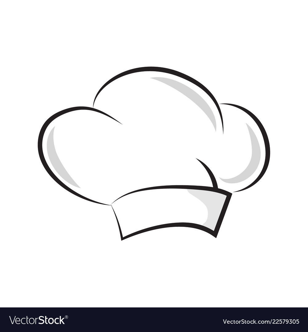 Chef hat vector image.