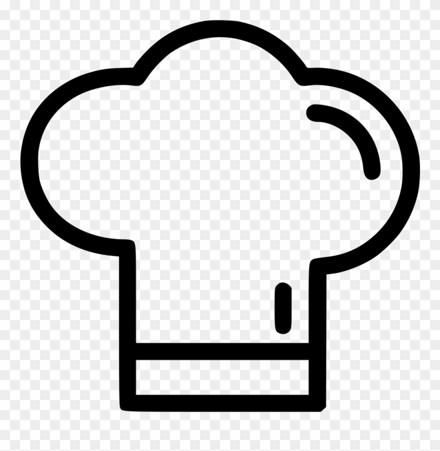 Vector Library Stock Chef Hat Clipart Black And White.