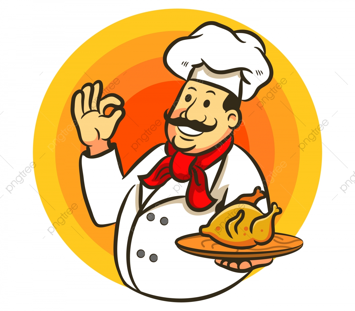 Chef Cooking Chicken And Delicious, Png, Chicken, Delicious PNG and.