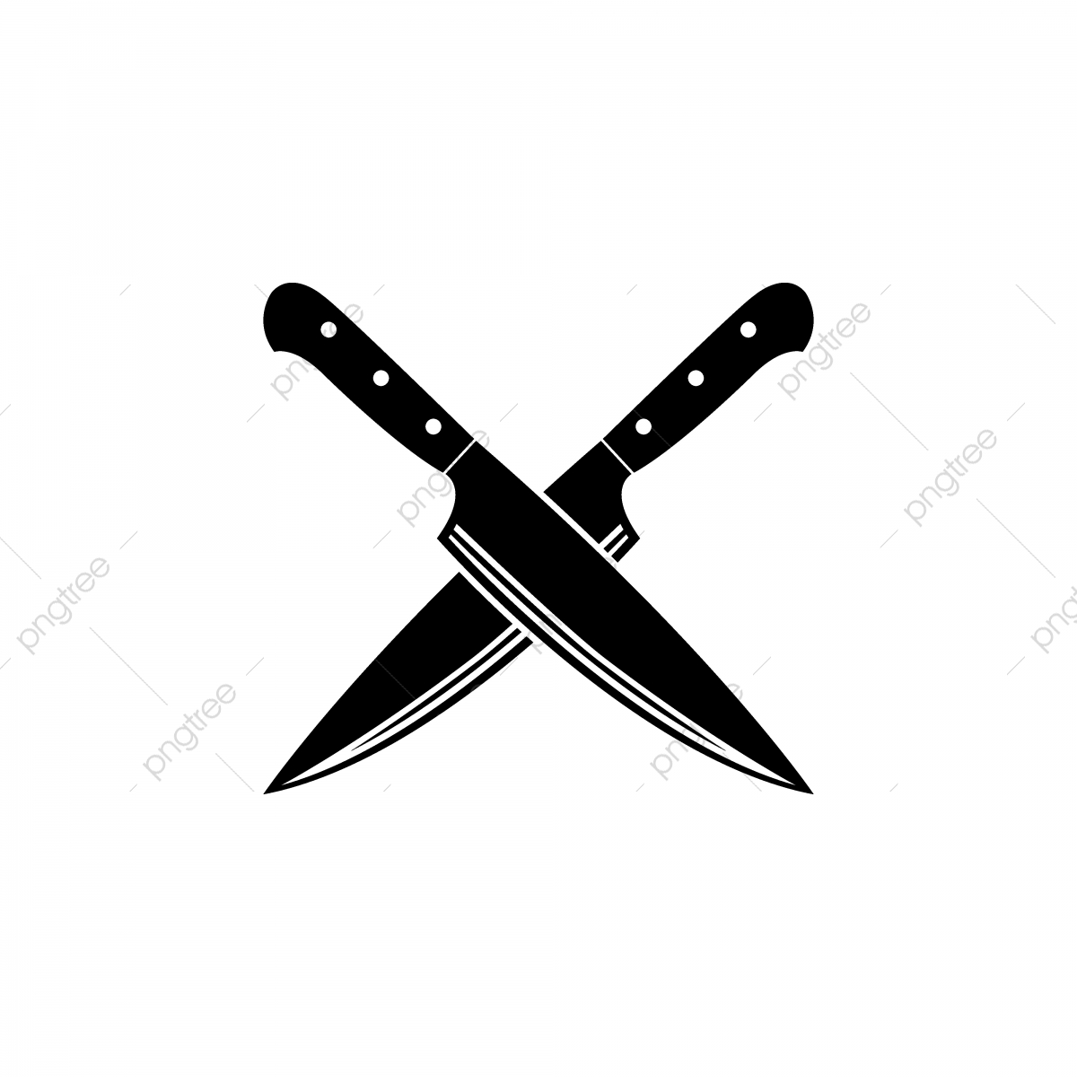 Cross Knife Vector Icon, Knife, Chef, Knives PNG and Vector with.